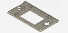 Gameboy Macro faceplate CAD view